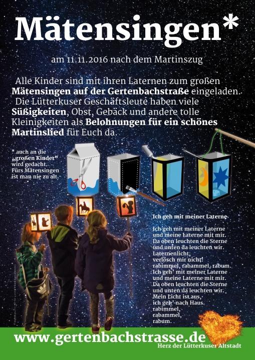 Lütterkusen: Mätensingen em Dorp. Eine Tradition lebt hoffentlich wieder auf.